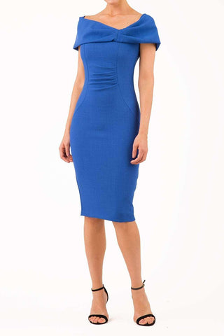 Mariposa Pencil Dress in cobalt blue