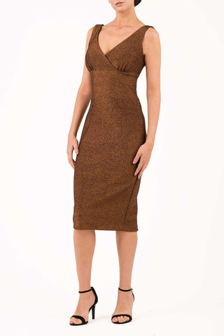 Mika Metallic Dress in copper