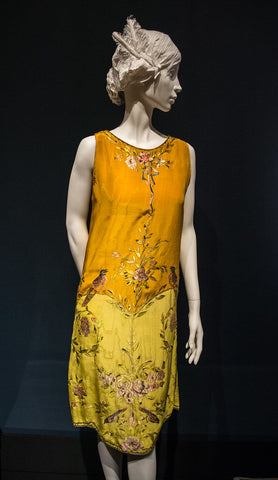 "Dress attributed to Callot Soeurs, on display as part of the ""Jazz Age"" exhibit at the Cleveland Museum of Art in Cleveland, Ohio, in the United States."