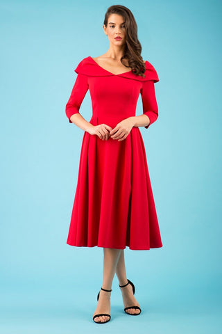 Chesterton Swing Dress in red