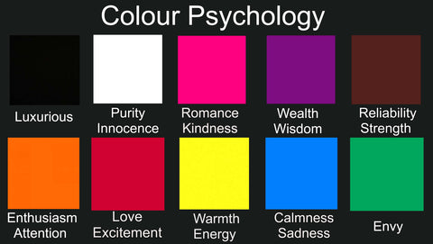 chart of colours with the effects they have on emotions