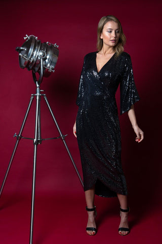 Glitterati Sparkle Dress in black