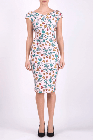 Sandhurst Print Dress in Linear Tulip