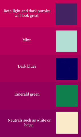 fuchsia colour chart of complimentary colours
