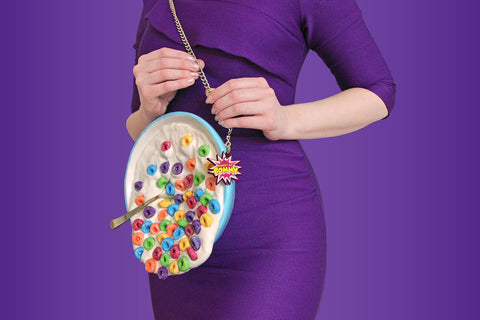 Seed Aspley Dress and spilled cereal purse
