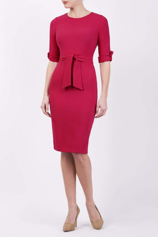 Tryst Pencil Dress in pink