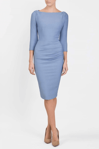 Seed Agatha Dress in steel blue