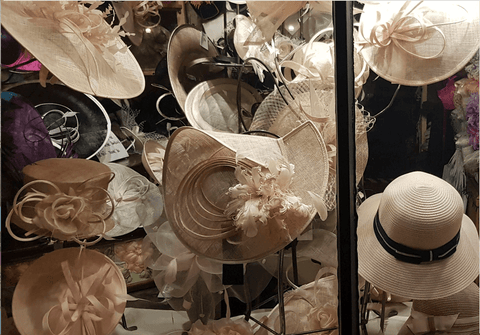 photo of hat shop window