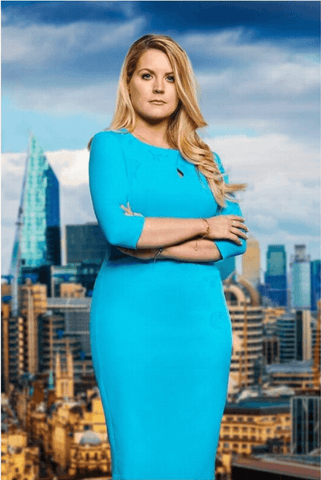 Pamela Laird wears Ubrique Pencil Dress in cobalt blue