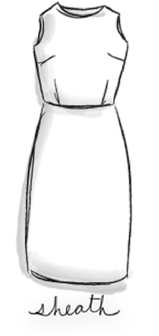 drawing of a sheath dress