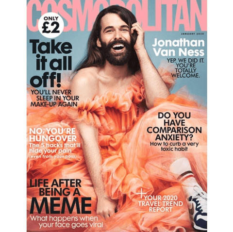 Jonathan Van Ness January 2020 Cosmo UK Magazine Cover