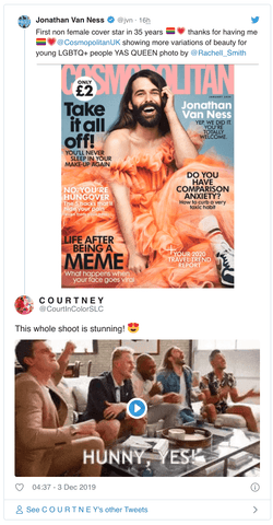 twitter reacts to January 2020 cosmo cover