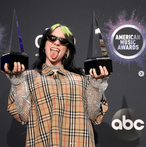 Billie Eilish at the American Music Awards