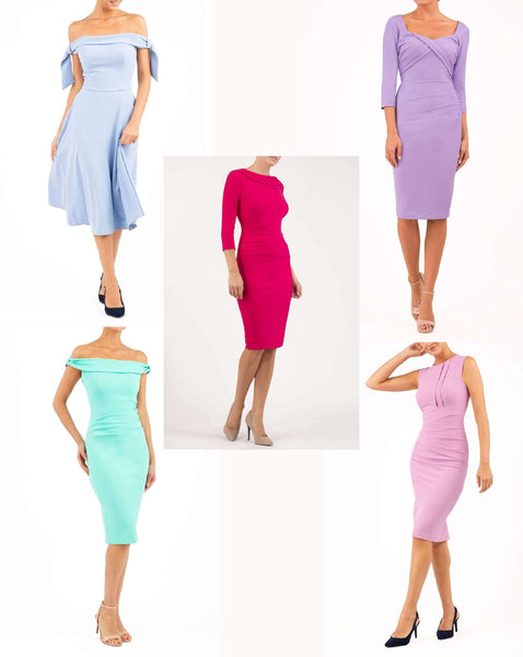 Diva catwalk pencil dresses perfect for summer colouring