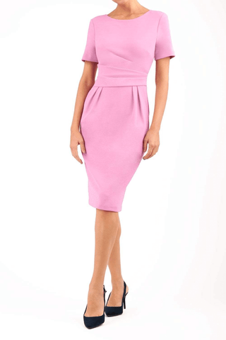 Positano Pencil Dress in Cashmere pink