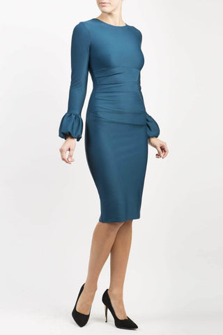 Appleford Pencil Dress in teal