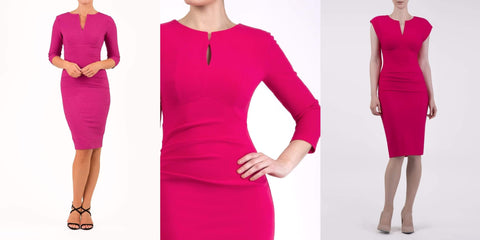 three pink pencil dresses mother of the bride