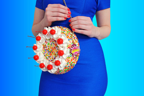 Rommy wears the Seed Cadiz Dress and her Birthday Cake Purse