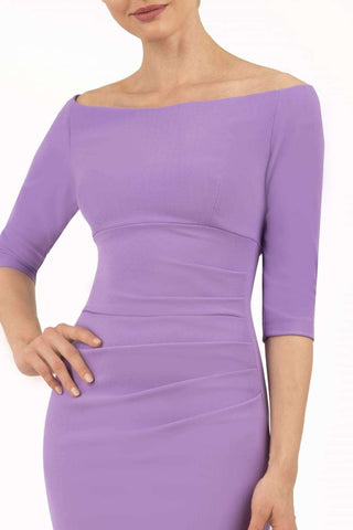 Astra Pencil Dress in violet tulip