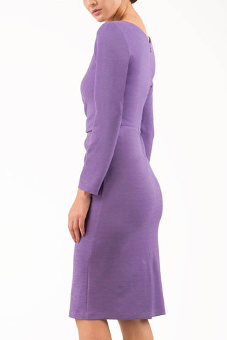 Kyoto Pencil Dress in lavender purple