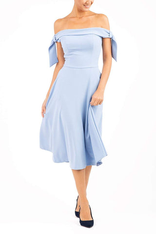 Portobello Swing Dress in powder blue