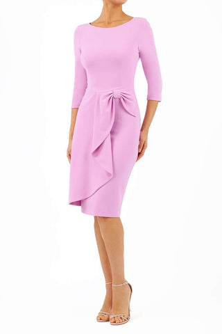 Jacky pencil dress in dawn pink
