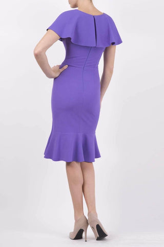 Nova Fishtail Dress in purple