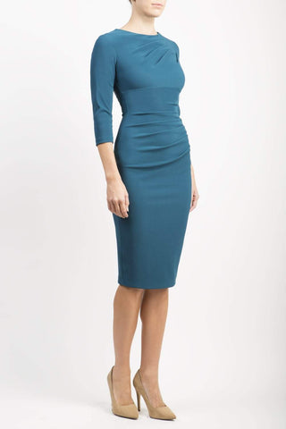 Ontario Pencil Dress in teal