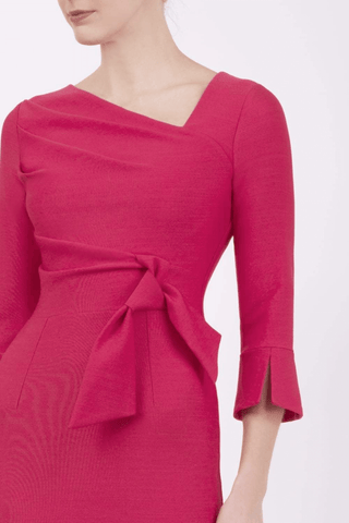 oral fuchsia dress