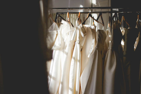 dresses hanging up