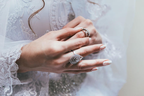 bride with two rings