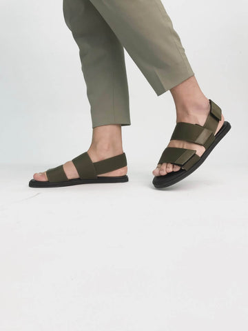 woman in casual sandals