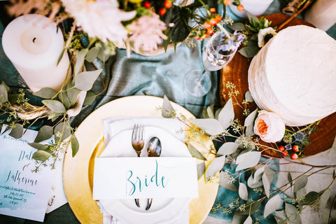 bride table setting wedding