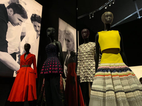 photograph of the Christian Dior exhibition at the Victoria and Albert museum