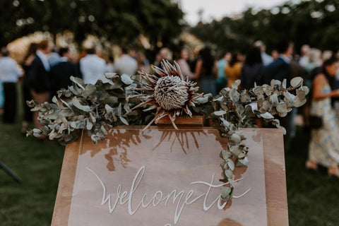 welcome board wedding