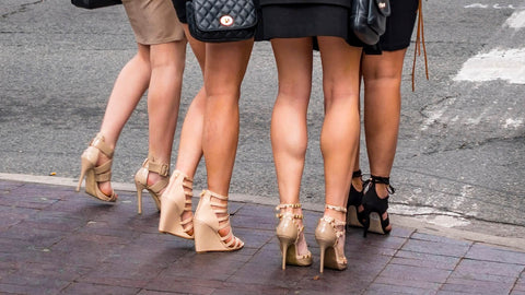 group of girls in high heels