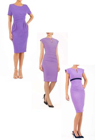 purple pencil dresses
