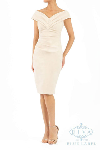 Diva Sonata Pencil Dress in sandshell beige