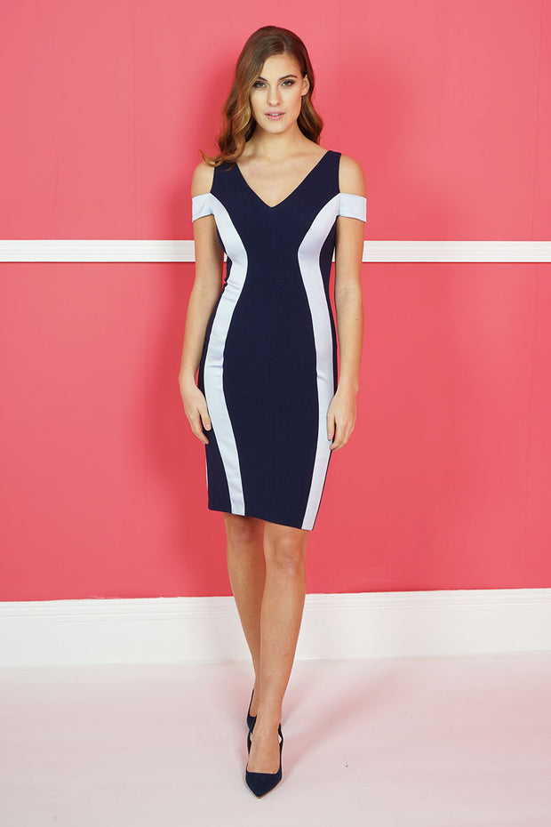 Margot Cold Shoulder Pencil Dress