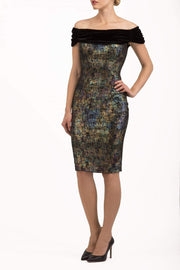 Verdana Metallic Dress