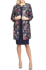 Diva Catwalk Lambria Long sleeve Coat Pattern Jacquard