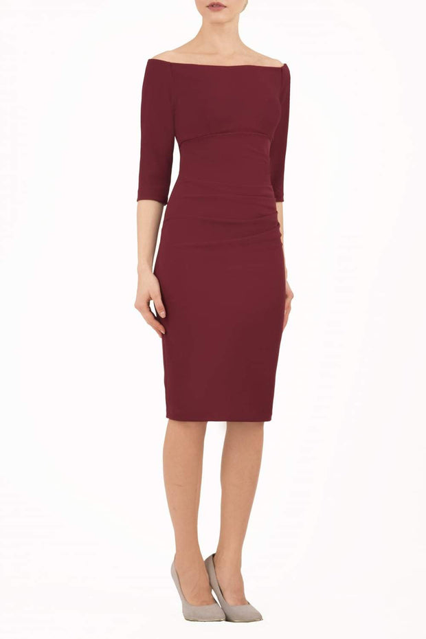 Astra Off-shoulder Pencil Dress