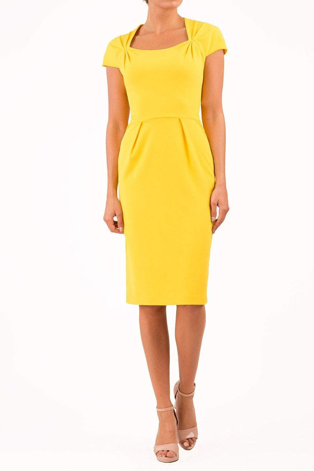 Amal_clooney_yellow_dress_royal_wedding_pencil_dress