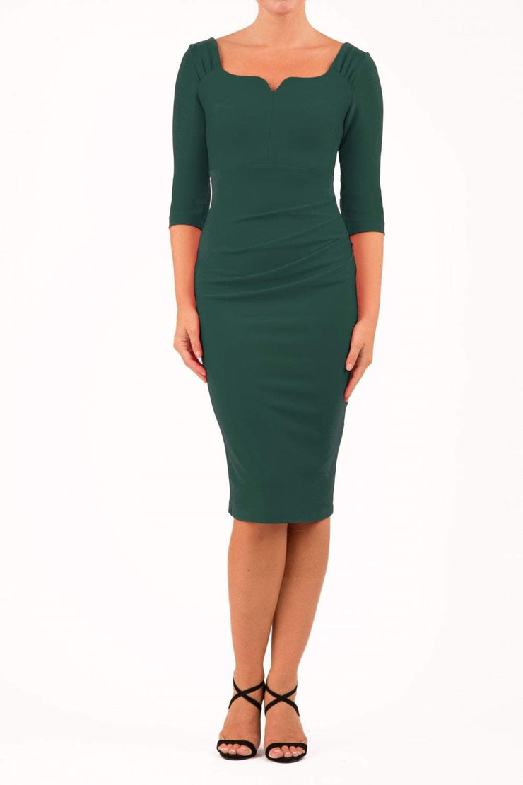 Hathaway Sleeved Pencil Dress