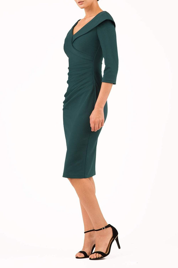 Eliza 3/4 Sleeve Pencil Dress