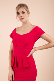 Evelyn Peplum Dress