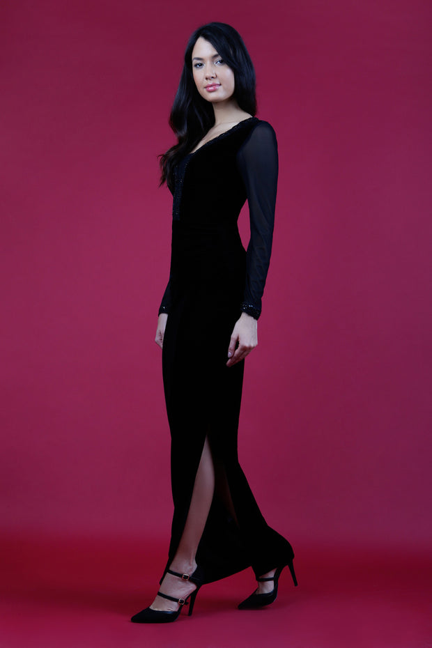 Isabella Velvet Dress