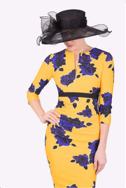Nadia 3/4 Sleeved Print Dress