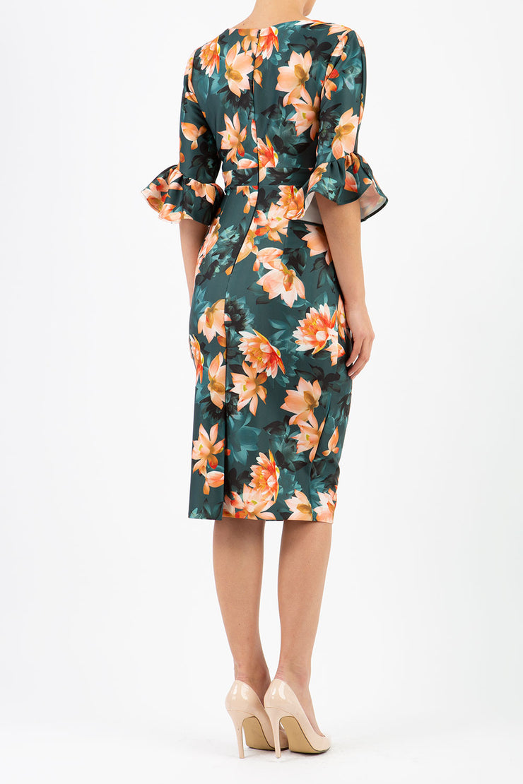 Ellen Contour Stretch Print Dress