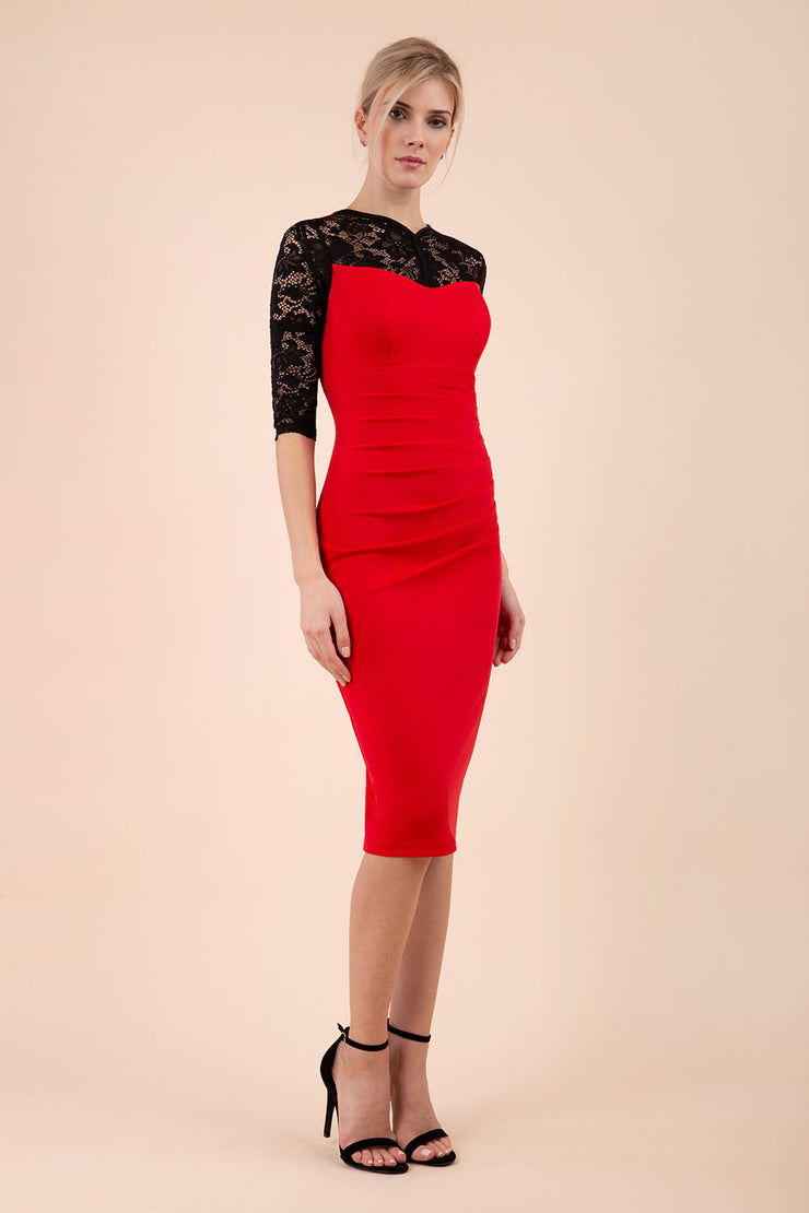 Haversham Lace Pencil Dress